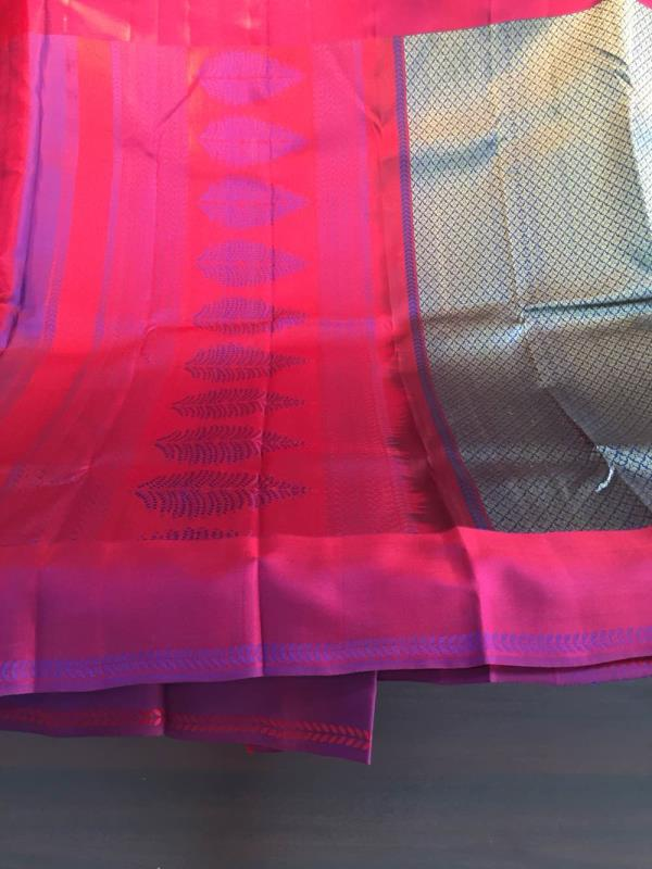 Pure kanchipuram silk Saree  - by VI VI MOTIFS MADURAI, Madurai