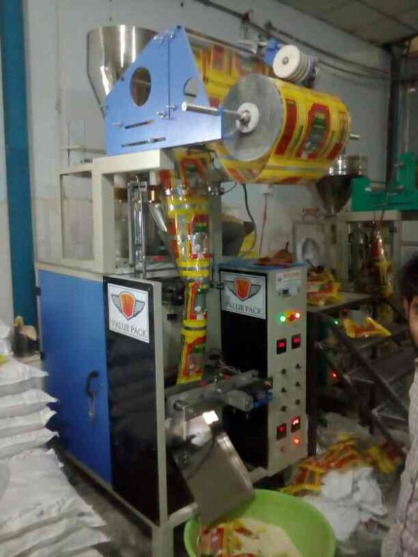 Rice packing machine  1kg to 5kg 40 pouches per minute  Fully pneumatic  Center ceiling   - by Value Pack Machinery, Hyderabad