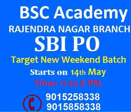 SBI PO 2016 Notification out! (Total 2200 Vacancies)  Start ur prep now & join our Fresh Batch.   - by BSC Academy Rajendra Place, Delhi