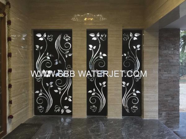 Granite Jali Waterjet Cutting. - by SBB Water Jet, Coimbatore