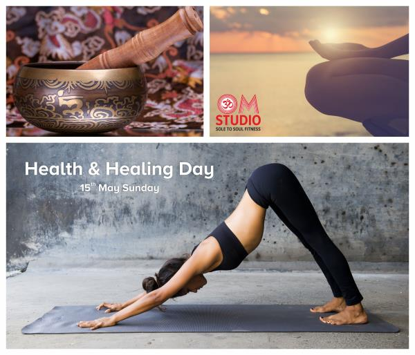 HEALTH & HEALING DAY at Om Studio in Pune The workshop includes a series of sessions like Guided Meditation, Yoga, Pilates and Sound Meditation to reshape a new you. The highlight of this workshop is the sound mediation which is a Tibetan B - by OM STUDIO, Pune