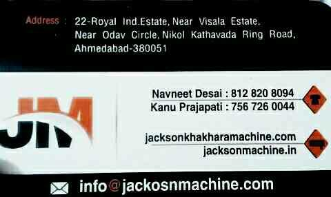 we are manufacturer of khakhra machine in ahmedabad - by Jackson Machine, Ahmedabad