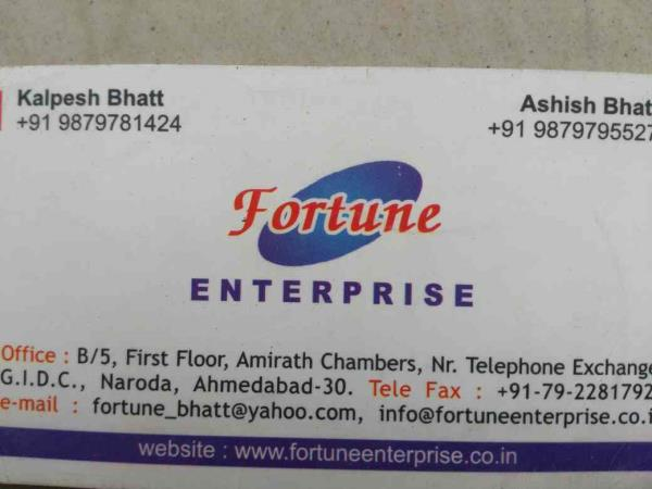 for more information www.fortuneenterprise.co.in - by Fortune Enterprise, Ahmedabad