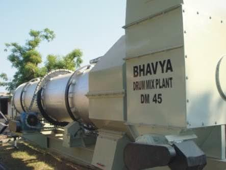 asphalt drum mix plant provided to one of our customer also we provide reversible comcrete mixer, paver finisher and many more for more info visit bhavyaind.com - by bhavya industries, Mehsana