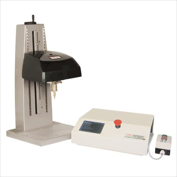 The electromagnetic pin marking machine is a bench mounted dot-peen marking (also known as impression marking or dot marking) machine. These are robust and compact marking devices that can easily integrate into a workshop environment due to - by ASIAN MACHINE TOOL CORPORATION PVT LTD Call 04430833917, Pune
