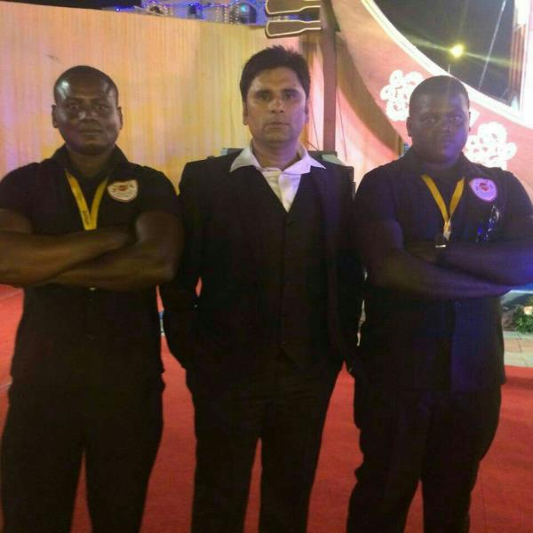 KHAKI SECURITY Services Pvt. ltd. provided special African Bouncers to the Royal Wedding Event , Ahmedabad. our M.D Mr. Gaurav Singh Chauhan is present there . We are providing Special African Bouncers in Ahmedabad as well as all over the G - by Khaki Security Services Pvt Ltd, Ahmedabad