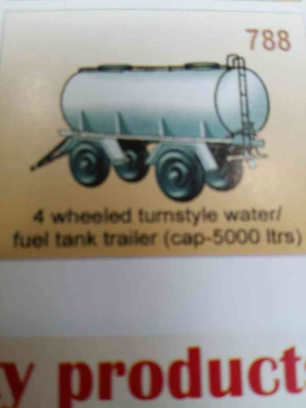 4 wheeled turnstyle water/fuel tank trailer - by Balvika Industrial Equipments Pvt. Ltd., Kolkata