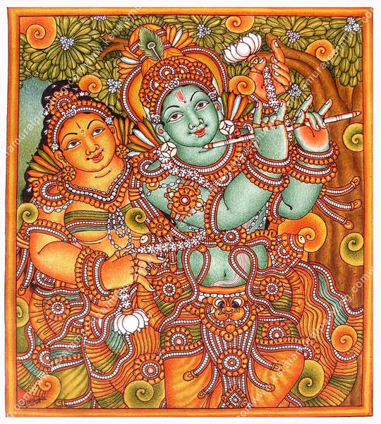 """Mural Painting is one of the oldest forms of artistic expression, includes all painting executed for the express purpose of embellishing or decorating a wall. The word mural is derived from the Latin murus (""""wall""""). A variety of techniques  - by Varrmas Arts & Crafts, Coimbatore"""