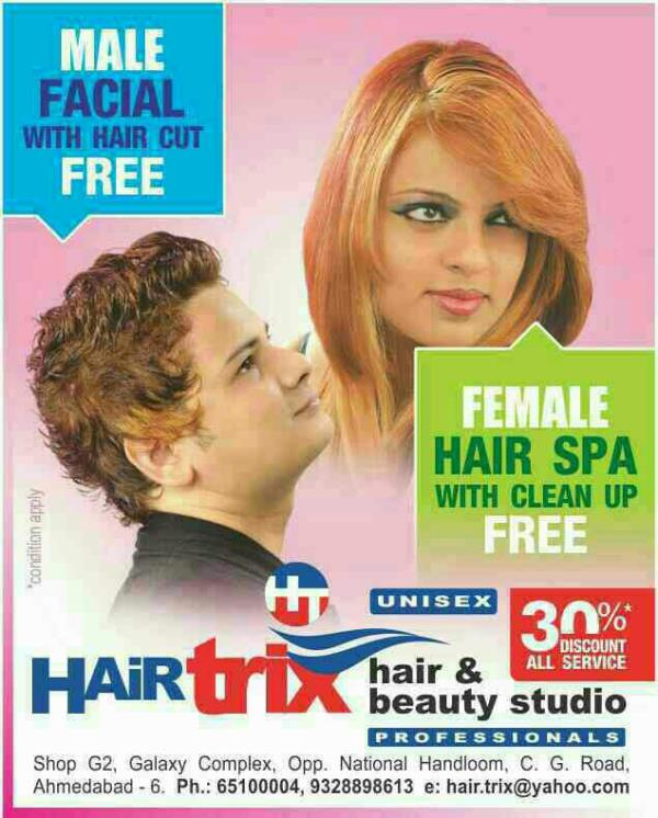 HAIR SPA WITH CLEANUP FREE  Amazing offers for female. keep it up ladies please book your appointment with us for hair spa and get face clean up absolutely free...  HAIRTRIX AHMEDABAD