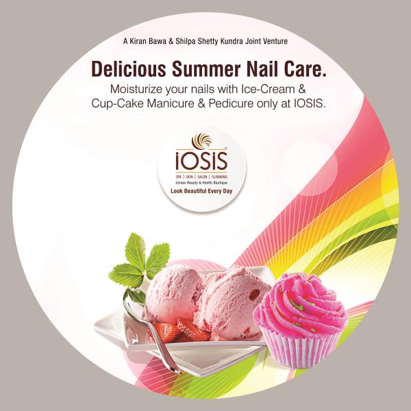 Delicious Summer Nail care. Moisturize your nails with Ice-Cream & Cup Cake Manicure & Pedicure. Iosis Ashiyana - by Iosis Wellness Centre, Lucknow