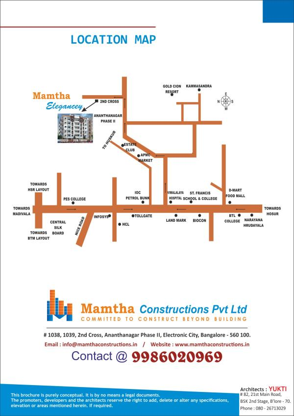 2 BHK apartments for sale in Electronic City, Bangalore.  Mamtha Constructions presents 2 BHK apartments for sale in  Near Wipro Electronic City, Bangalore.  http://www.mamthaconstructions.in/ - by Mamtha Constructions Pvt Ltd, Bangalore