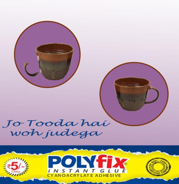 Polyfix Instant glue  is an instant adhesive that bonds the material quickly: It Bonds Plastic, Rubber, Metal,  Wood, Acrylic, Mts Blocks etc in just 3 to 5 seconds  Polyfix instant glue also known as Professional glue, Flex glue, glue for  - by Benson Polymers Ltd., Delhi
