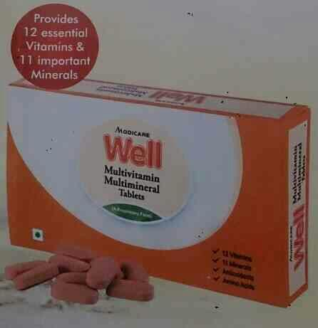 Healthy Habit for a Healthy Lifestyle   Well Multivitamin Multimineral Tablets   Provides the necessary Nutrient that help bridge the nutritional gap  Provides 12 essential Vitamins and 11 important Minerals  Provides 6 important Phytonutri - by FOOD SUPPLEMENTS, Amritsar