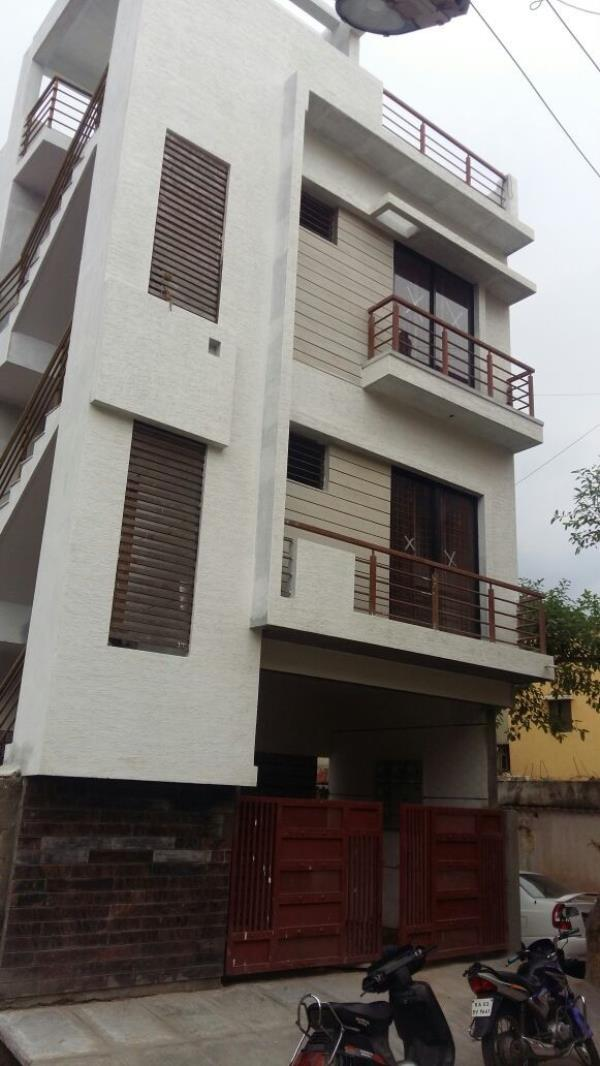 A beautifully architect designed G+2floors house with A khatha and plan sanction for sale in the buzzing locality of Bhuvaneshwarinagar just 3 .5 kms from manyatha tech park, It has kaveri water and all electrical fittings.It is a loanable  - by Watershed properties, Bangalore
