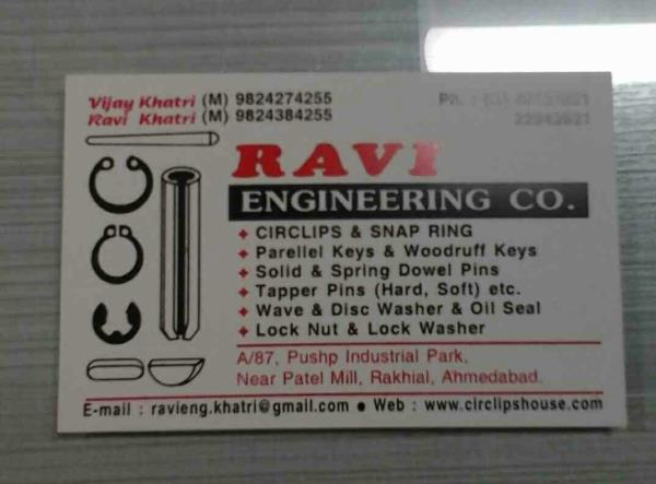 Ravi is Parallel Keys & Woodruff Keys Manufacturer in Ahmedabad.It also  Manufactures Solid & Spring Dowel Pins - by Ravi Engineering Co, Ahmedabad