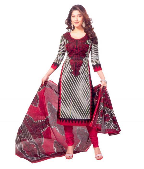 Cotton Churidar Dress Material - by Nexx Fashion, Coimbatore