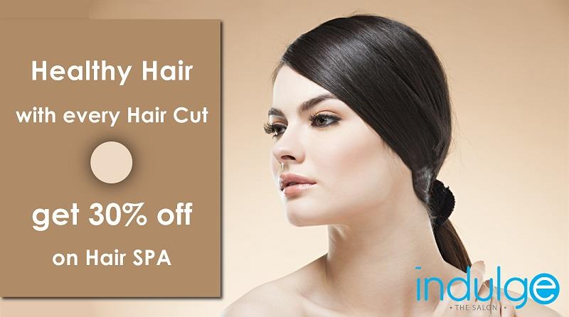 Healthy Hair now with every Hair Cut. Get 30% off on Hair Spa. Call 06742540666 / 07504992003 - by Indulge The Salon, Bhubaneswar
