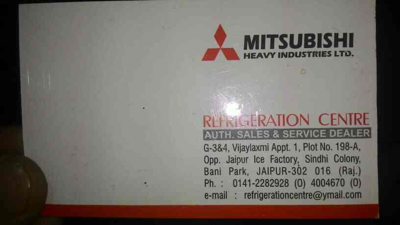 REFRIGERATION CENTRE is a very renowned name in Jaipur City  . It is authorized sales and services dealer for CARRIER  and MITSUBISHI - by REFRIGERATION CENTRE, Jaipur