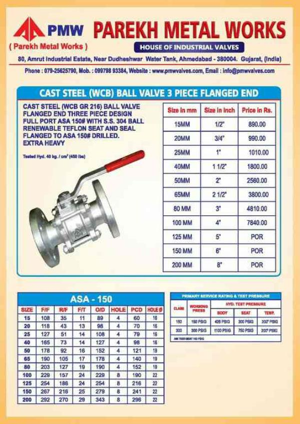 all kind of butter fly valves.ball valves.and industrial valves. on ahmedabad. - by Parekh, Ahmedabad