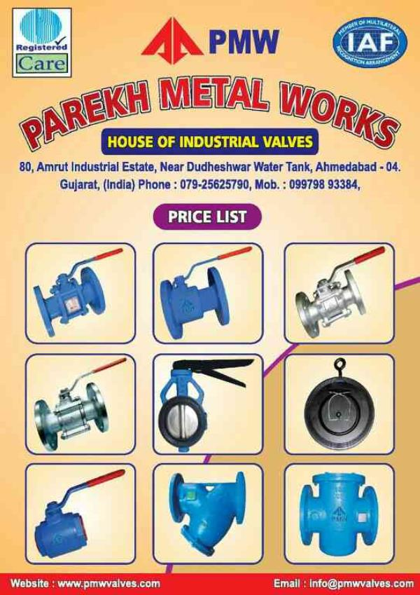 we are manufacture of industrial valves in gujrat. - by Parekh, Ahmedabad