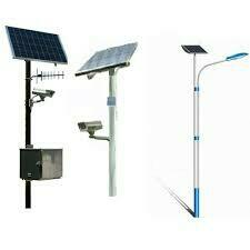 We are best quality suppliers of solar street light poles with fully equipped equipment in india  - by Rainbow Power , Gandhinagar