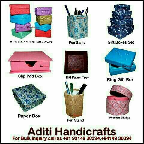 Eco Friendly Handmade Paper Gifts Products @ Aditi Handicrafts, Jaipur - by Aditi Handicrafts, Jaipur