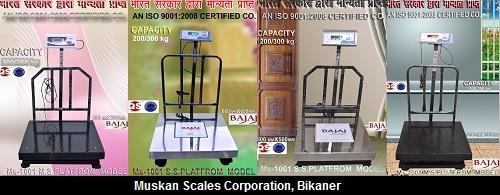 Weighing Scales Available in Capacity of 200 Kg and 300 Kg    Muskan Scales Corporation, Bikaner - by Muskan Scales Corporation, Bikaner