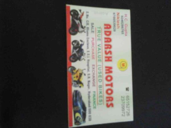 true value used bikes in hyderabad  - by Adarsh Motors, Hyderabad