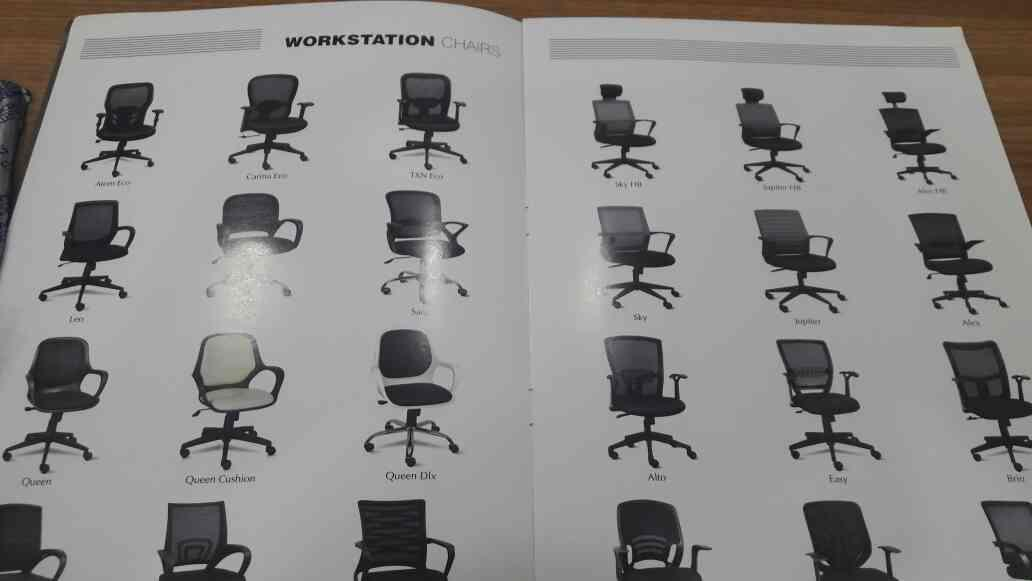 All types of workstation chairs manufacturer in ahmedabad.. - by Navkar Impex, Ahmedabad
