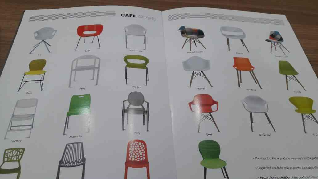 All types of Cafe chairs manufacturers in ahmedabad - by Navkar Impex, Ahmedabad
