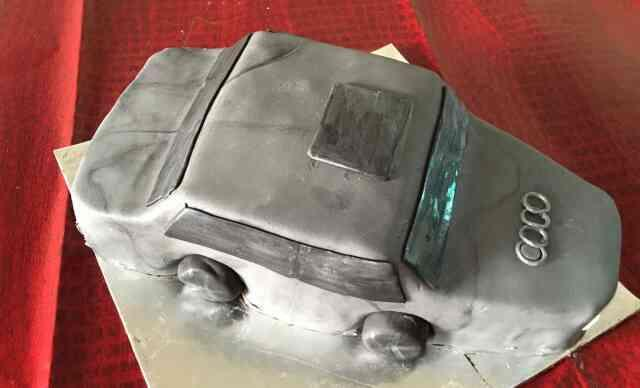 lets go fr a drive in this chocolate truffle cake Audi - by Akki Cups And Cakes, Ahmedabad