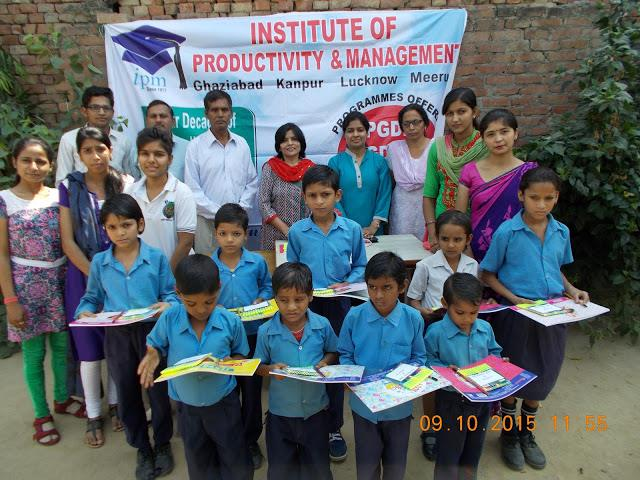 Drawing Kit gifted to the Students of Dr.BRAmbedkar School, Duhai Ghaziabad.... - by Institute of Productivity and Management @ 9971402757, Ghaziabad