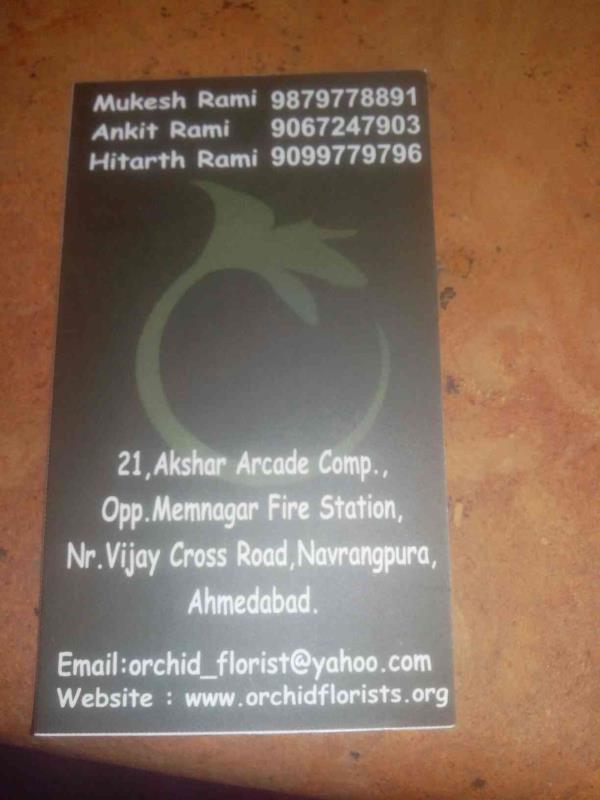 You can visit us  - by Orchid Florist, Ahmedabad