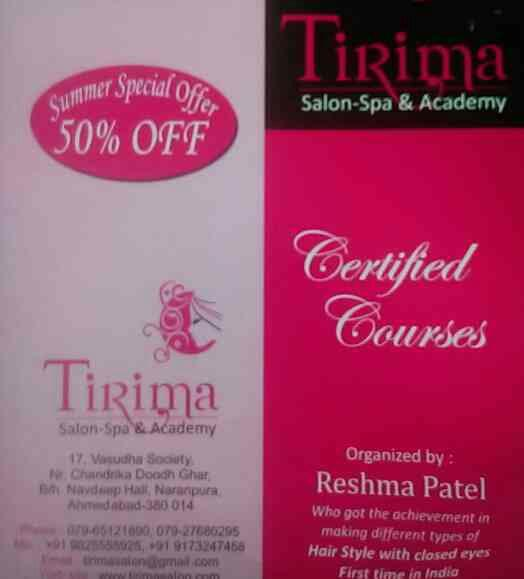 Tirima salon organized by Reshma Patel who having expertise in making different type of Hair Style with closed eyes. this is first time in India - by Tirima Salon Spa & Academy | www.tirimasalon.com, Ahmedabad
