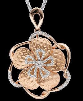 Elegant Pendent in 18k Rose gold - by Shree Hari Jewels, Surat