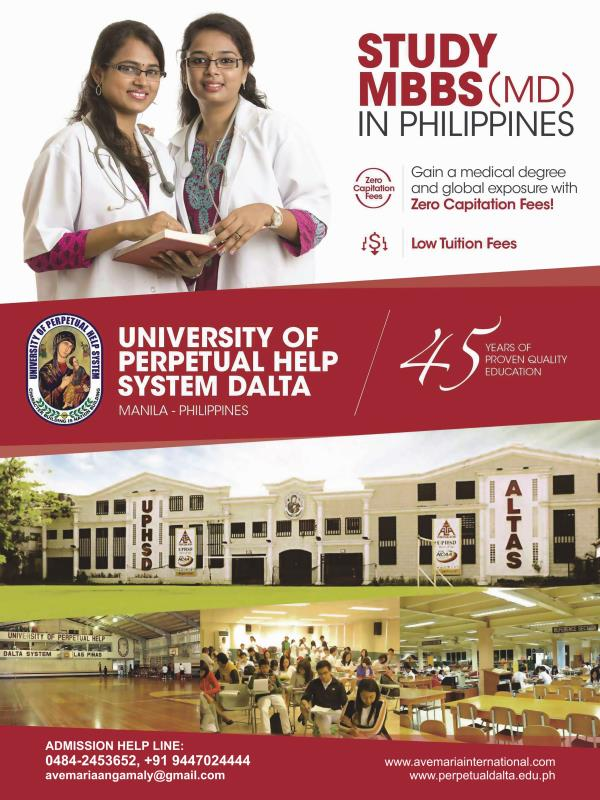 Study Medicine In Philippines - one of the best place for students who want to study abroad at affordable price and high quality. Philippines offers one of the best medical education in the world. One in ten doctors in the United States hav - by AVE MARIA INTERNATIONAL , Ernakulam
