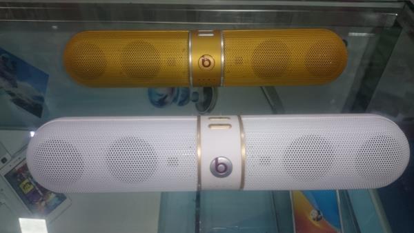 Beats FM Speakers!! ( White / Gold)  - FM Radio  - Bluetooth Connectivity  - TF Card  Check price @ SANA Mobiles, Opp to LDC College - Narimedu, Madurai - 625002 - by Sana Boutique, Madurai