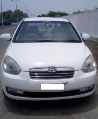 HYUNDAI VERNA VTVT:MODEL 02/2009, KM 49053, COLOUR WHITE, FUEL PETROL, PRICE 350000 NEG. - by Nani Used Cars, Hyderabad