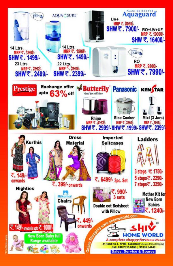 Water purifiers on sale  - by SHIV HOME WORLD, Hig-15/1,road No1,kphp Colony,kukatpally,hyderabad