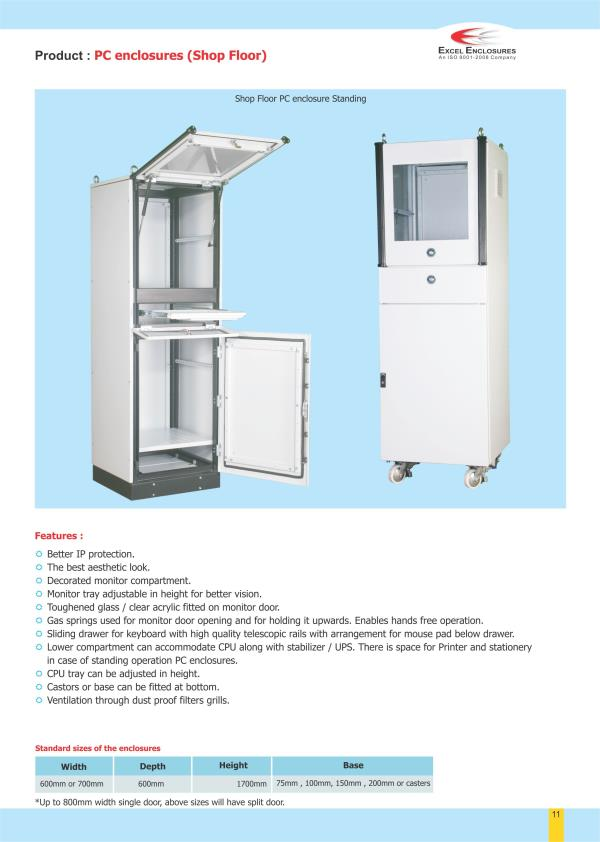 Industrial PC Enclosures Manufacturer in Pune. - by Excel Enclosures, Pune