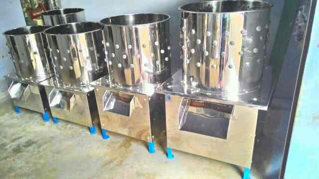 we are manufacturing all type of chicken shop machineries like chicken killing cones, chicken defeathering machine, chicken and Mutton cutting machine, chicken Automatic cutting machine, chicken shop working tables, pork cutting machine, la - by Maragatham Enterprises, Coimbatore