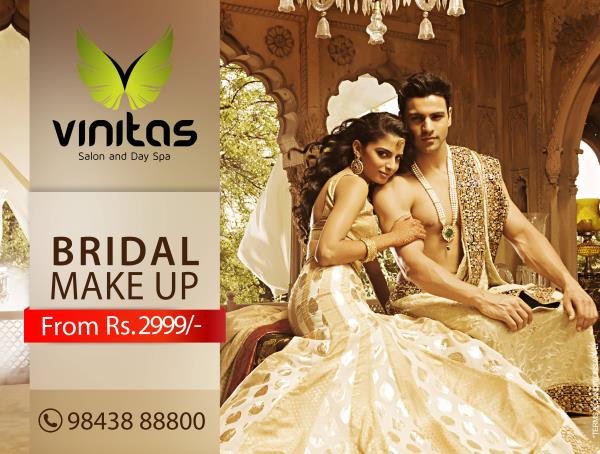 Bridal Makeup   - by VINITAS SALON AND DAY SPA, Madurai