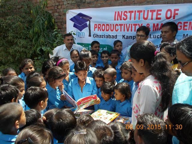 Nothing is better than the gift of books.....Library established @ Dr. B. R. Ambedkar Primary School, Duhai by IPM Ghaziabad.....                                  Best PGDM college in Ghaziabad . PGDM college in Ghaziabad . Best PGDM COLLEG - by Institute of Productivity and Management @ 9971402757, Ghaziabad