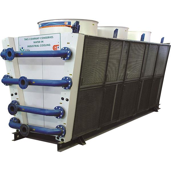 When slings are used in GEM Dry Cooler, use a heavy pipe or solid bars instructed through the holes in the mounting skids of the Dry Cooler.Use spreader bars to prevent damage to the Dry Cooler when lifting.  When moving the Gem Dry Cooler  - by Gem Equipments Pvt Ltd, Bangalore