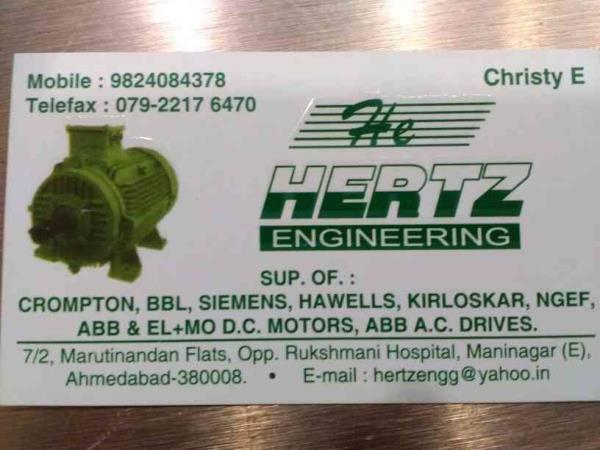Hertz Engineerjng supplier of AC, DC Motors in Ahmedabad  - by Hertz engineering , Ahmedabad