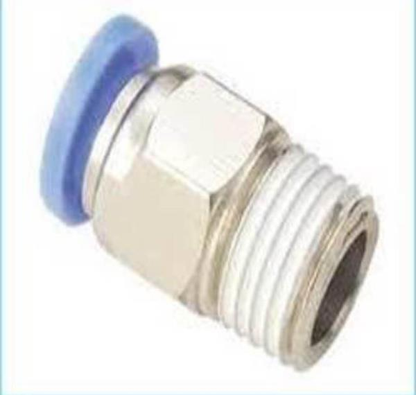 Pu male connector push in type  - by Alfa Industrial Products, Hyderabad