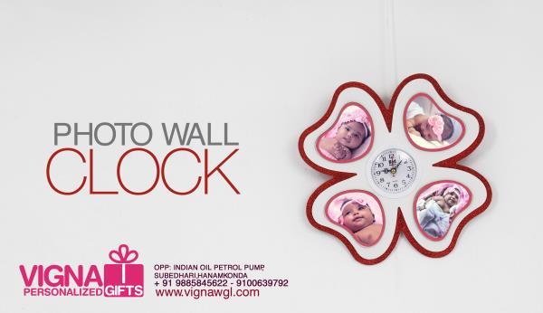 photo wall clock - by VIGNA PHOTOGRAPHY & PERSONALIZED GIFTS, Warangal,hanamkonda,Hyderabad