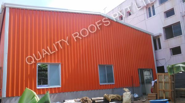 Quality roofs pvt ltd is your One Stop Solution Provider for all Metal Roofing in Tamilnadu like Industrial Roofing, Residential Roofing & general Metal Roofing Services in Chennai. The company provides Roofing Shed design and turnkey Roofing installations for various type of projects, including Badminton Roofing, Car parking Roofing, Ware House Sheds, Puf panel Roofings, Terrace Roofings, Industrial Roofings. Quality Roofs Pvt Ltd has its Corporate Office, and Factory in Chennai. Our current projects includes Terrace Party hall Roofing in Redhills, Badminton Roofing in Nungambakkam, Ware House Roofing in Gerugambakkam. - by QUALITY ROOFS PVT LTD           Call us : 9841510901, chennai