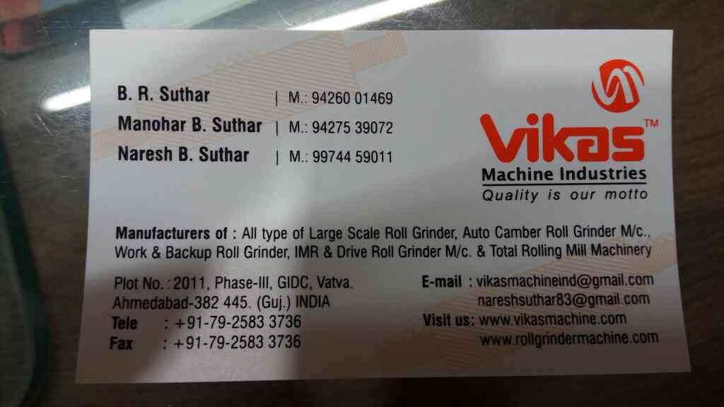 All types of Heavy duty roll Grinder - by Vikas Machine, Ahmedabad