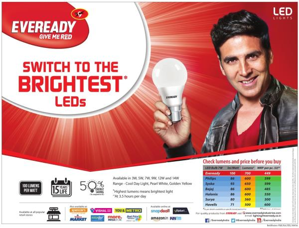 Eveready distributor in Ahmadabad   we Revive system Ahmadabad provide best quality of LED light in Ahmadabad  as well as we are authorize  distributor for EverReady led light in Ahmadabad  - by Revive System Mob.8511980103, Ahmedabad